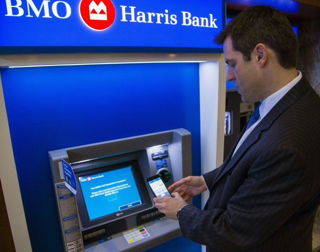 Bmo harris bank launches mobile cash cardless atm network atm tools and services industries are offering said connie stefankiewicz head of north american channel strategy and solutions at bmo financial group reheart Choice Image