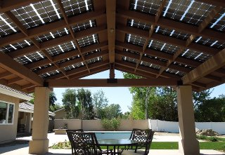 Solar Panels Do Double Duty As Patio Roof Proud Green Home