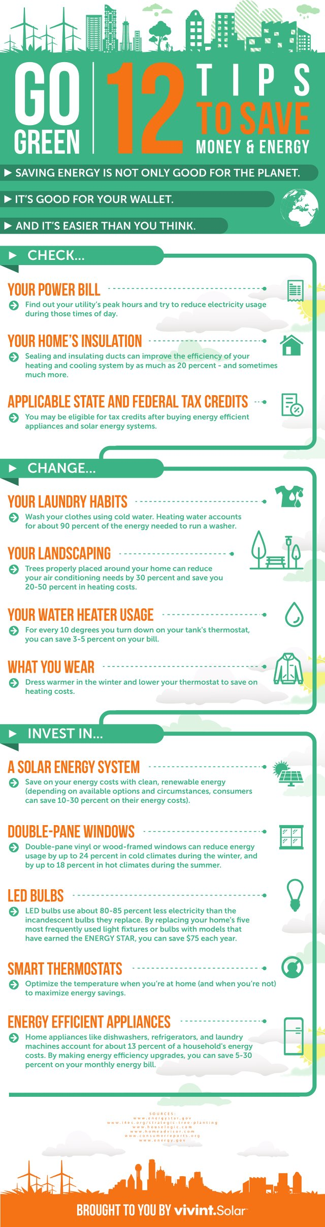 12 steps to save energy and money in your home