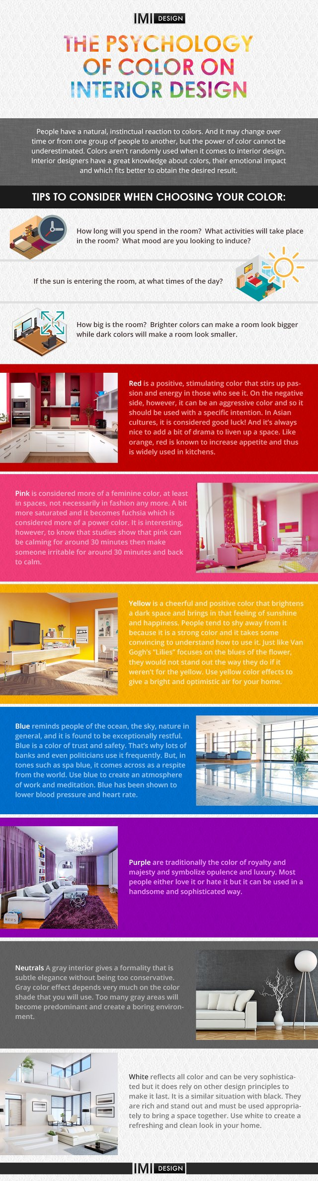 Interior Design Color Psychology