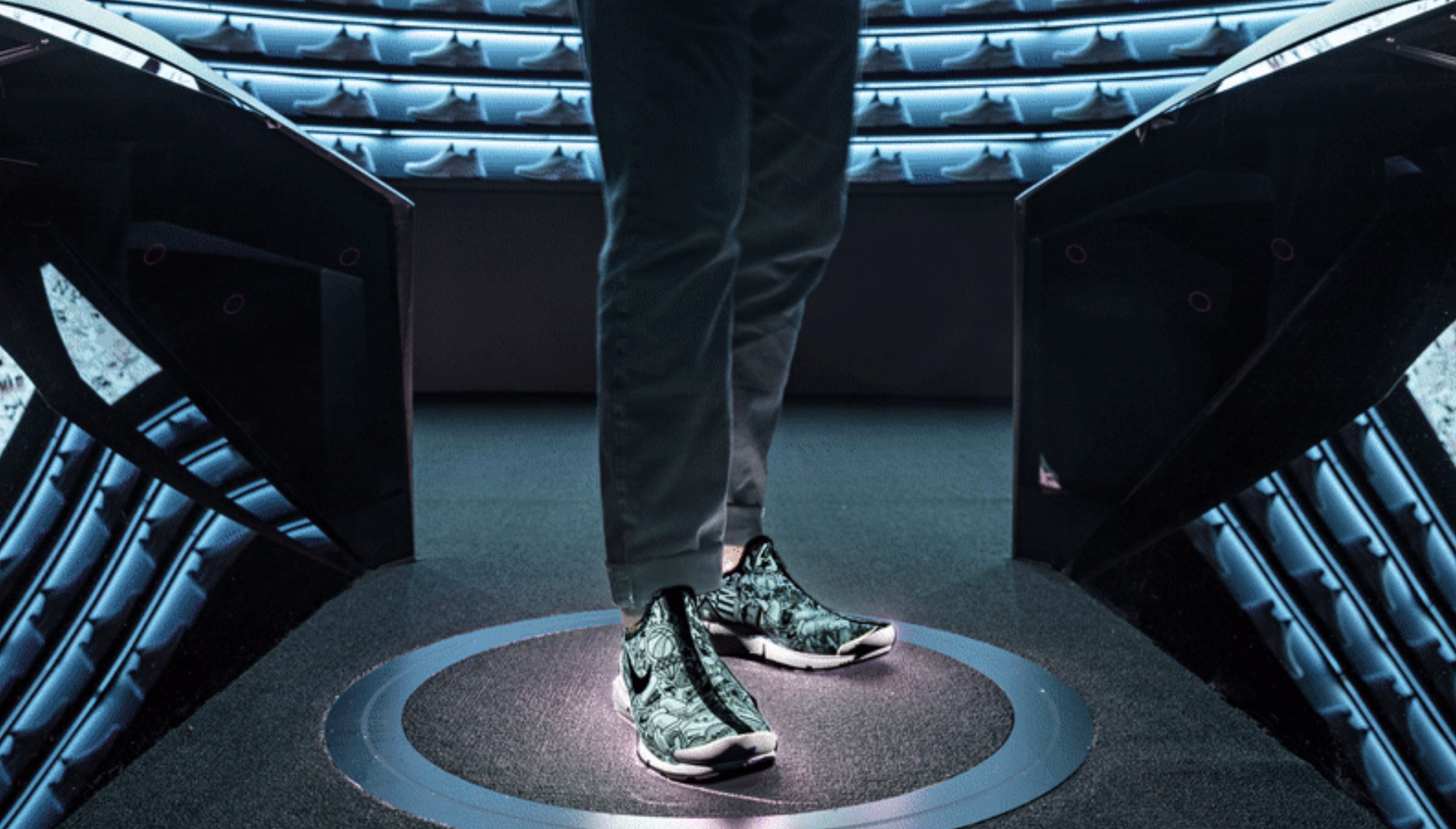 Nike Makers' Experience merges digital design with traditional shoe making,  allowing consumers to try on shoes, then have the shoes made for them on  the ...