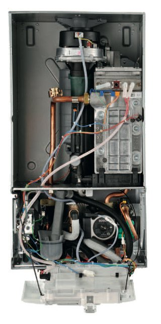 Gas-condensing boiler delivers heat and hot water for homes | Proud ...