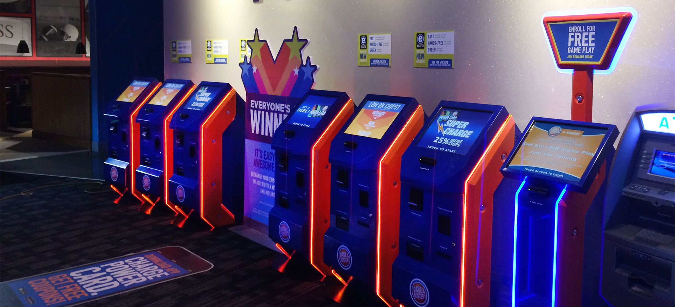 792c4dae16 Dave   Buster s loyalty kiosks rewards points directly to gamers  cards.