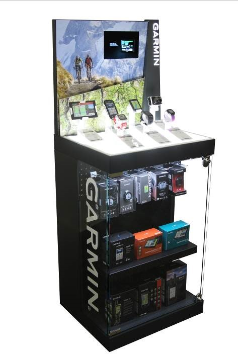 Eye-Catching Displays Highlight Garmin Products to Attentive