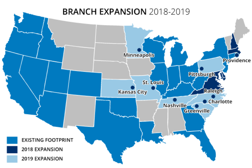Chase to open 90 branches in 9 new markets starting this