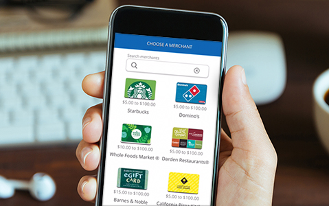 Chase enables digital gift card transfers for checking customers