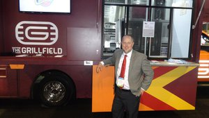 Robert Mikalonis of On The Move Inc. presents a food truck built for Virginia Tech.