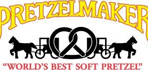As part of its merger with Pretzel Time, Pretzelmaker will let go of its old logo, shown here. Pretzelmaker was founded in 1991 and has more than 185 locations.