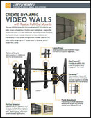 Create Dynamic video walls with Fusion Pull-Out Mounts