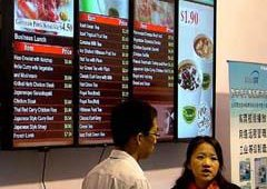 Digital menu boards were nearly as popular - and omnipresent - as they tend to be at U.S. digital signage shows.