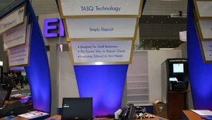 Epson TASQ technology was highlighted at the booth.
