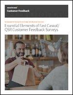 Essential Elements of Fast Casual/QSR Customer Feedback Programs