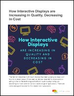 How Interactive Displays are Increasing in Quality, Decreasing in Cost