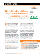 Three Benefits of Depot Services for Restaurant Equipment Repair