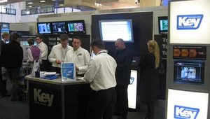 Key Technologies' booth, located at the entrance of the Expo, was heavily trafficked throughout the show.