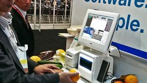 NEC showed off a self-checkout scanner that works without barcodes.