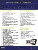Restaurant Delivery Software Checklist