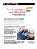 Three Key Considerations to Implementing an Online Ordering System