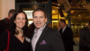 From left: Beth Madden, National Restaurant Association, and Paul Barron, founder of FastCasual.com