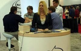 Tara, from Revention, a provider of POS solutions, stood ready to answer questions.