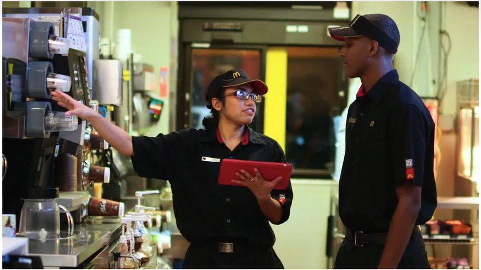 McDonald's hits upon big dollar-saving solution to desk-less worker dilemma