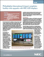 Philadelphia International Airport completes facility-wide upgrade with NEC LCD displays