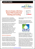 How to Create a Net Zero Home with Geothermal Heating and Cooling