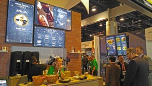 Sharp showcases digital signage 'Relationships@Work,' Intel Mini OPS at DSE16