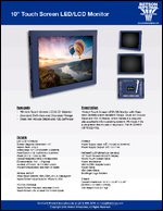 "10"" Touch Screen LED/LCD Monitor Sell Sheet"