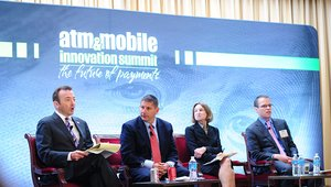 <p>Kurt Helwig, CEO of the Electronic Funds Transfer Association, moderated a panel discussion featuring members of U.S. regulatory agencies. Speakers included Gary Novis of the Financial Crimes Enforcement Network, Anne Shere of the U.S. Treasury, and Duane Pozza of the Federal Trade Commission.</p>