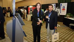 Star Micronics sponsored the bags, one of which the gentleman is holding.