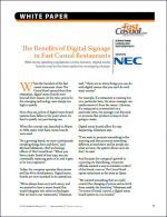 The Benefits of Digital Signage in Fast Casual Restaurants