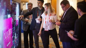 <p>This year's Summit also featured hands-on, literally, demonstrations of interactive customer experience technologies.</p>