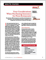 Four Considerations When Purchasing Insurance for Pizza Restaurants