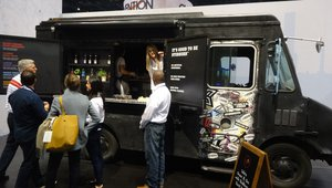 PepsiCo presented its newest Stubborn line of beverages from a second food truck at its booth.