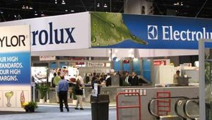 Electrolux displayed several products in its booth, including the air-o-steam which can use three cooking modes: convection, steam or a combination of both.