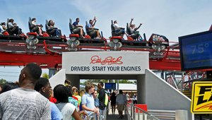 Amusement parks taking digital signage for a ride