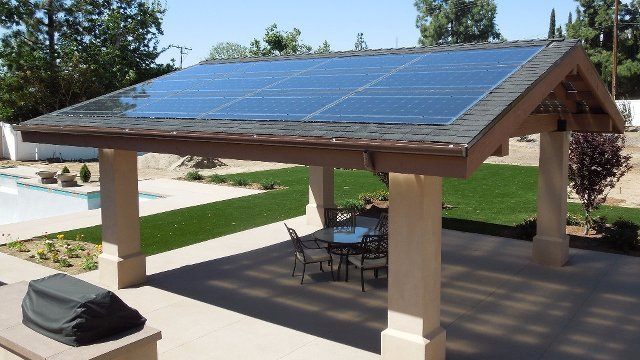 Solar Panels Do Double Duty As Patio Roof