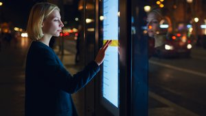 Digital signage provides fuel for interactive outdoor kiosks