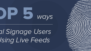 Take a look at the top 5 ways digital signage users are integrating live feeds