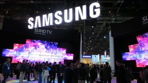 """<p><em>Samsung had a huge presence at this year's Consumer Electronics Show. The Internet of Things was front-and-center for the electronics giant, whichshowed off a new """"smart"""" refrigerator;a partnership with BMV for anInternet-connected car; and its latestline of smartwatches.</em></p>"""