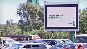 'Bill the Billboard' cracks wise for Sprite
