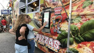 Pizza truck pioneers self-order kiosk in South Florida
