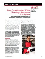 Four Considerations When Choosing a Restaurant POS System