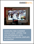 Samsung NBA Summer League 2016: Upping The Fan Experience With Interactive Digital Displays & Content