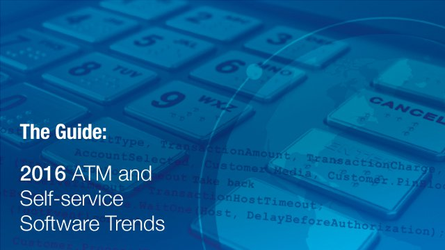 Webinar unveils annual trends report for ATM and self-service software
