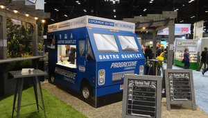 Recognizing the popularity of food trucks, Progressive Insurance used a food truck design to promote its offerings.