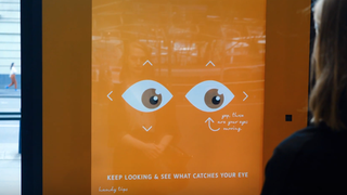 Eye tracking tech delivers DOOH ads, prizes