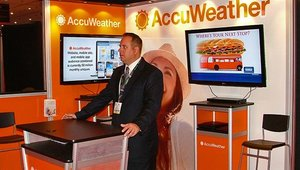 AccuWeather Inc. also attended this year's show to promote its content feeds.
