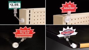 Add Signage to Metal Surfaces with New Pivoting Magnetic Sign Holders
